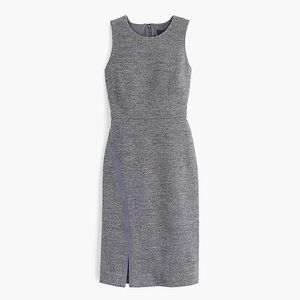 J. Crew Gray Sleeveless Herringbone Sheath Dress